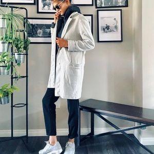 Jackets & Blazers - Longline Black and White Blazer